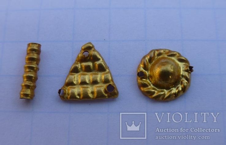 Пришивные бляшки, Скифы (Au) 155 шт., фото №4