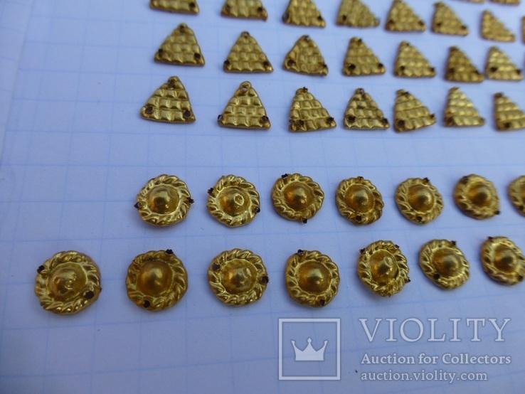 Пришивные бляшки, Скифы (Au) 155 шт., фото №11
