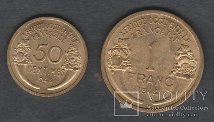 Французская Западная Африка. 1944г. Франк, 50 сант., фото №3