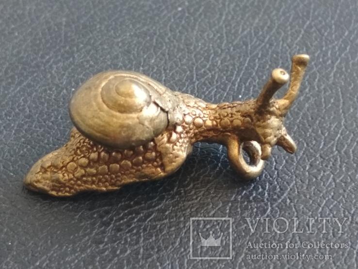Улитка бронза коллекционная миниатюра брелок