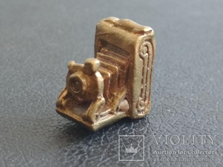 Фотокамера старинная бронза брелок коллекционная миниатюра