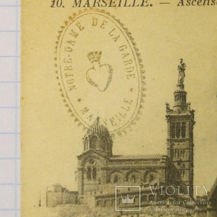 """Открытка""""Marsielle""""Notre-damt de la Garde.(Печать)., фото №3"""