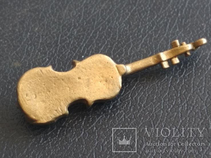 Скрипка бронза коллекционная миниатюра, фото №6