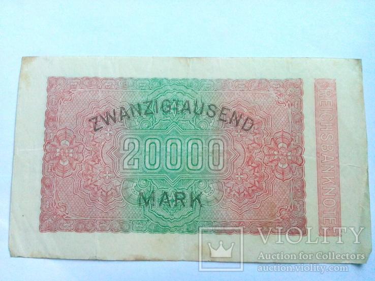 20 000 марок 1923 г. Германия Веймар., фото №3
