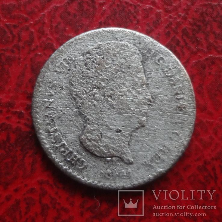 1 1/4 скиллинга 1841 Дания серебро  (,12.4.9)~, фото №3