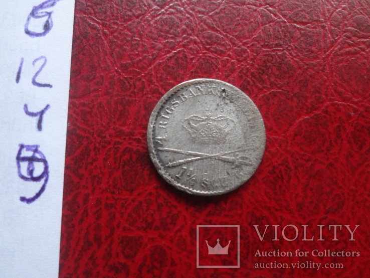 1 1/4 скиллинга 1841 Дания серебро  (,12.4.9)~, фото №4