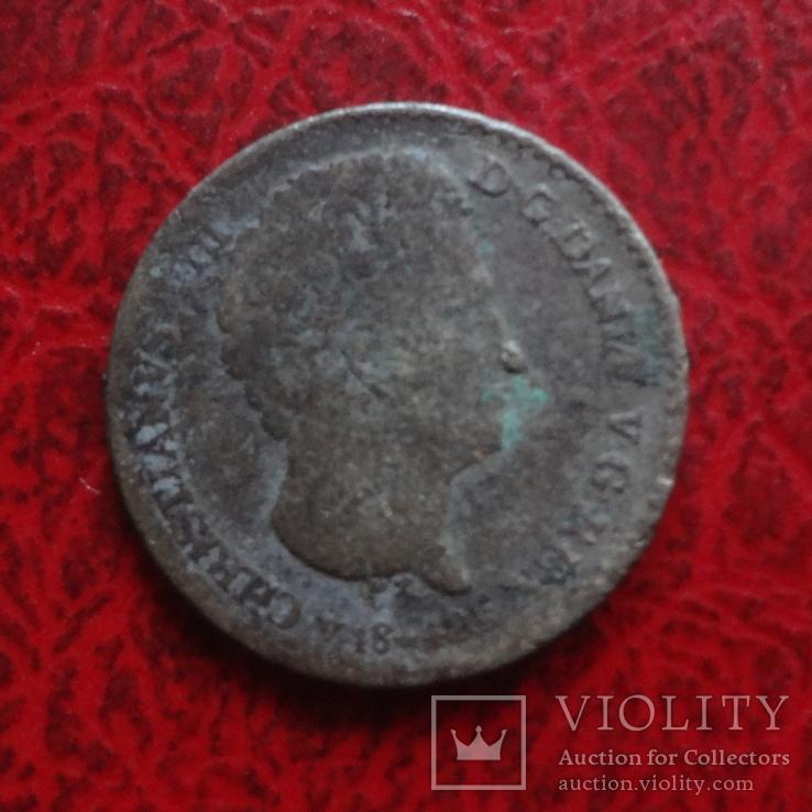 1 1/4 скиллинга 1842 Дания серебро (,12.4.10), фото №5