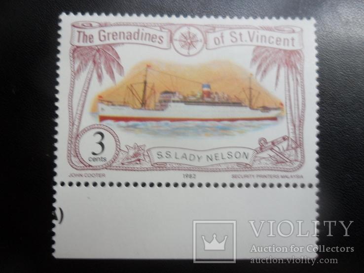 Корабли. Брит. Гренадины, Сент-Винсент.  марка MNH, фото №2