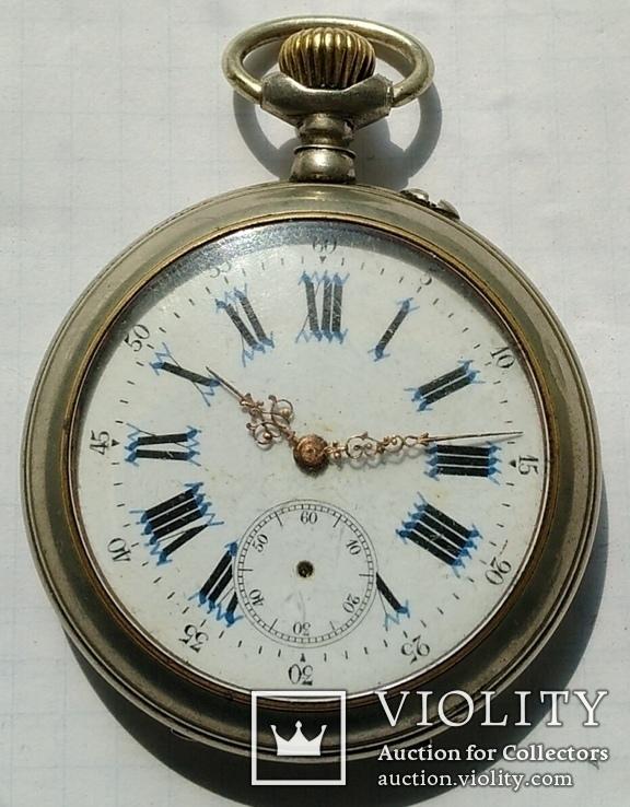 Часы карманные с фигурными стрелками.