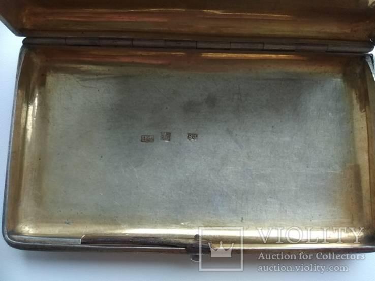 Портсигар с чернением 84 пробы 1868г., фото №9