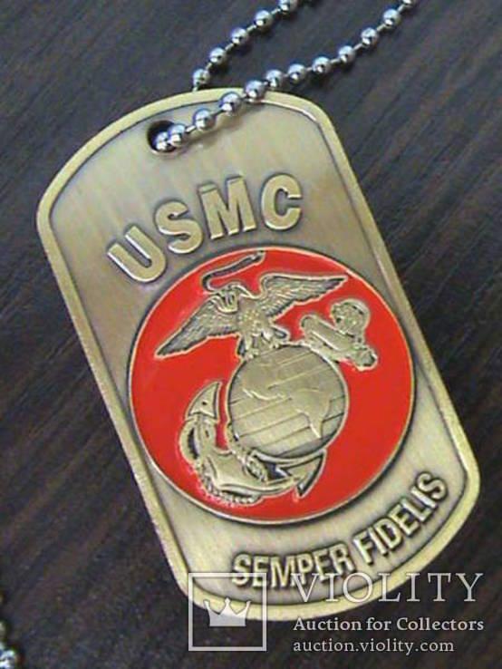 Жетон морской пехоты армии США, фото №3