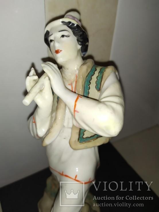 Статуэтка Лель Гуцул с сопилкой фарфор СССР реставрация, фото №5