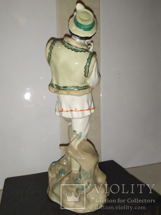 Статуэтка Лель Гуцул с сопилкой фарфор СССР реставрация, фото №7