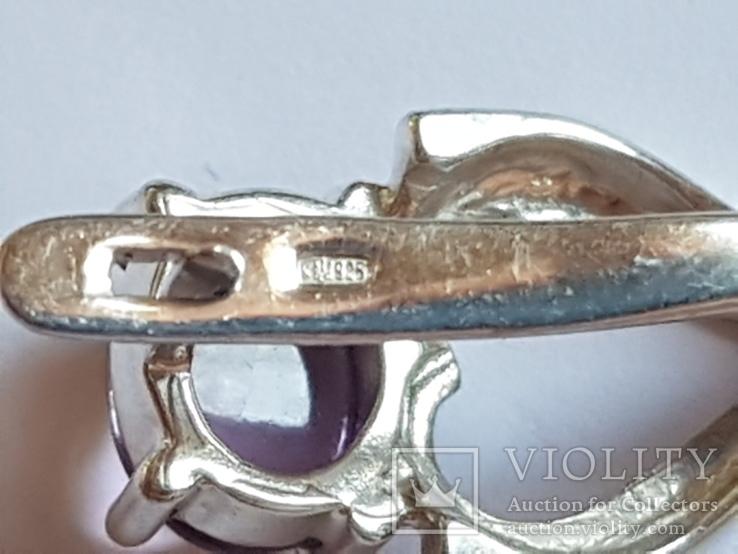 Серьги серебро 925 проба. Вес 6.15 г., фото №5