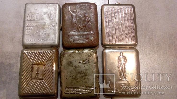 Портсигары 5 шт СССР под реставрацию, фото №2