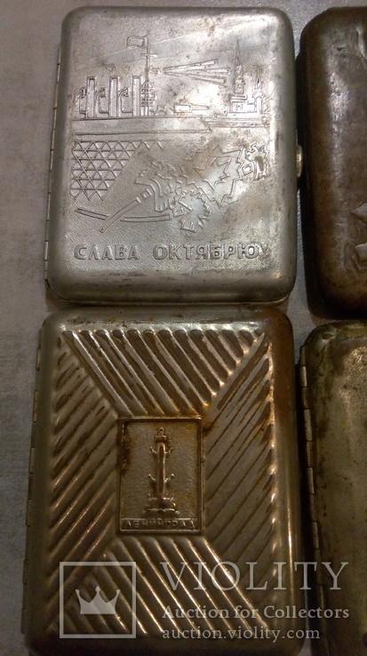 Портсигары 5 шт СССР под реставрацию, фото №3