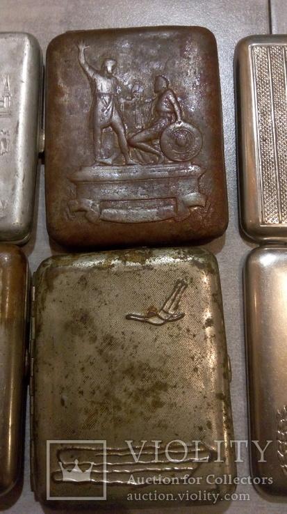 Портсигары 5 шт СССР под реставрацию, фото №4