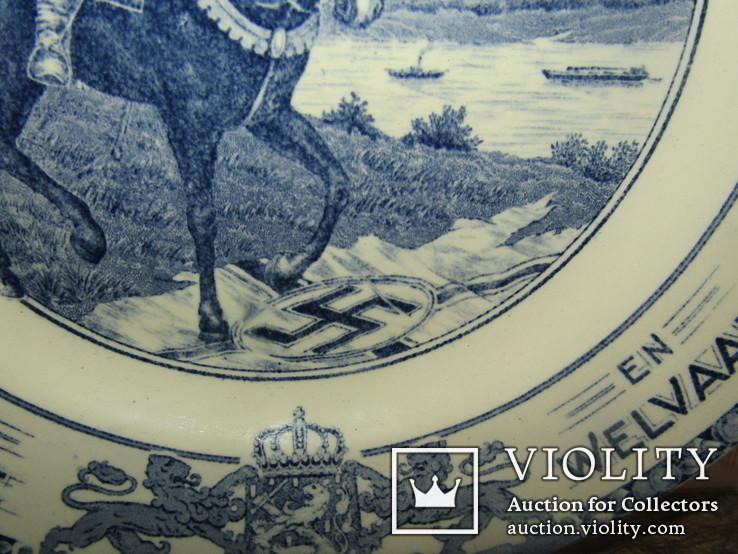 Настенная тарелка ко дню Победы с поверженной свастикой, фото №8