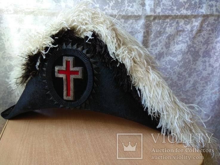 Церемоніальний масонський капелюх валіза MC Lilley & Co. Columbus Ohio Ceremonial Hat, фото №9