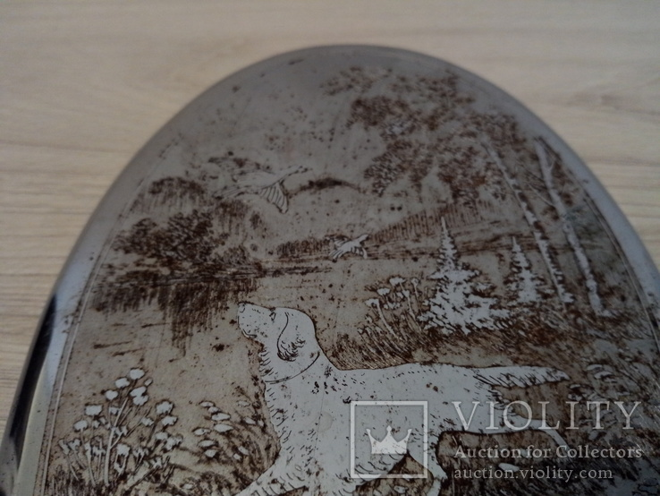 Вешалка Старая Охотничья тематика - расписная охота на фазана