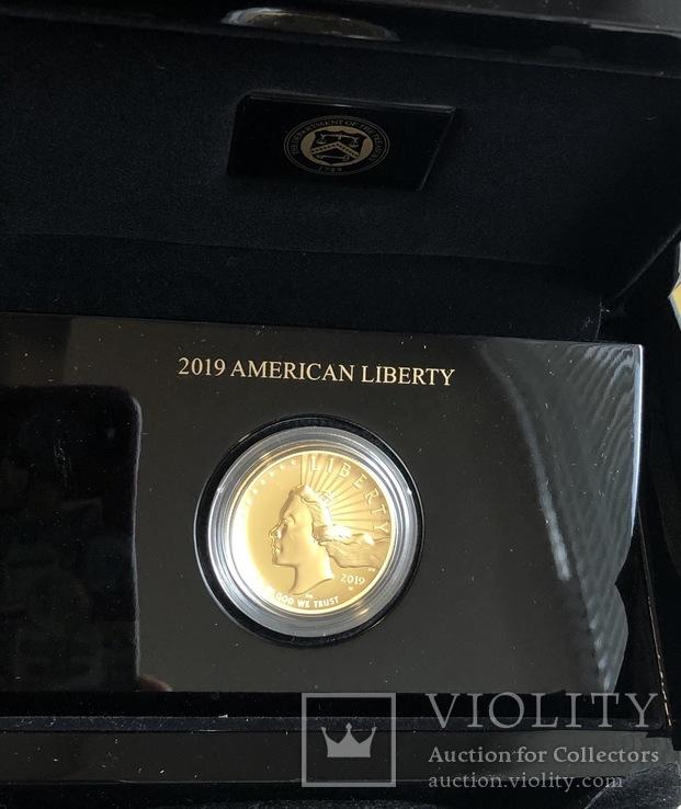 100 $ 2019 года США золото 31,1 грамм 999,9', фото №3