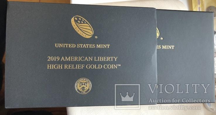 100 $ 2019 года США золото 31,1 грамм 999,9', фото №6