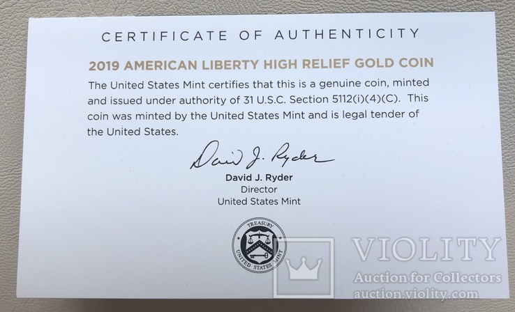 100 $ 2019 года США золото 31,1 грамм 999,9', фото №9