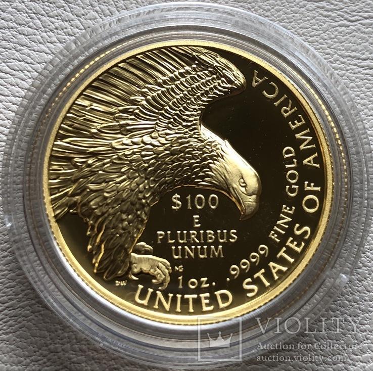 100 $ 2019 года США золото 31,1 грамм 999,9', фото №12