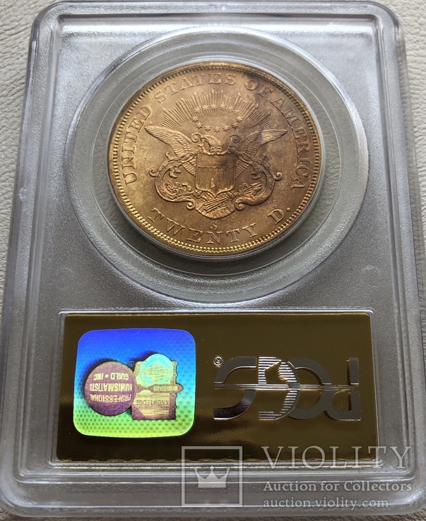 20 $ 1857-S года США монета с затонувшего корабля, фото №3