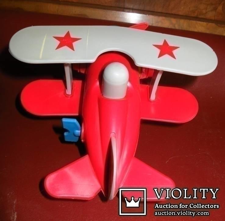 Игрушка самолёт биплан. СССР, фото №5