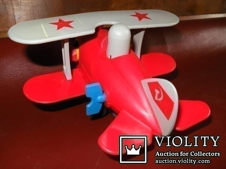 Игрушка самолёт биплан. СССР, фото №6