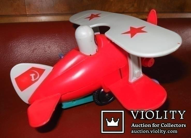 Игрушка самолёт биплан. СССР, фото №7