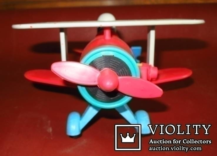 Игрушка самолёт биплан. СССР, фото №8