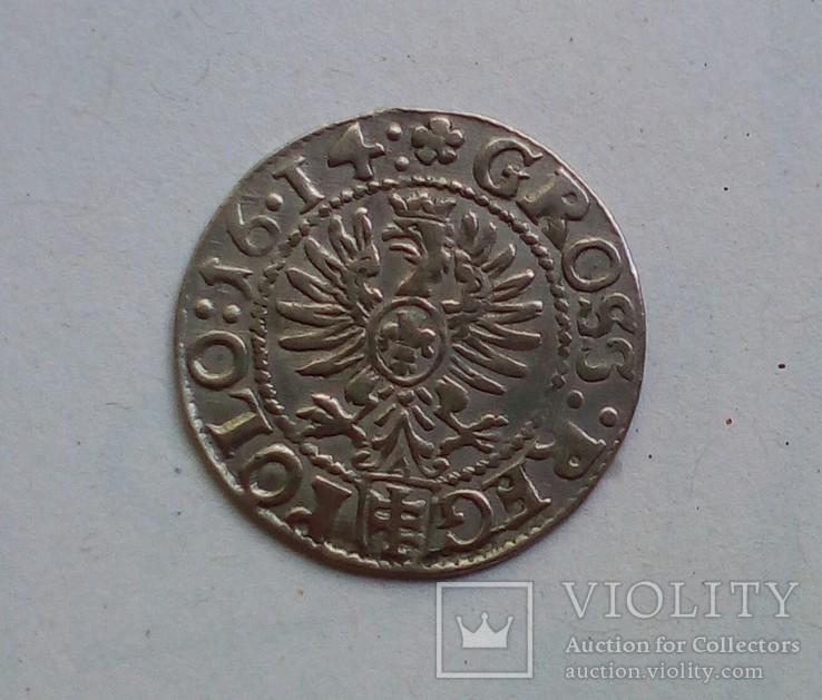 Коронный грош 1614 года