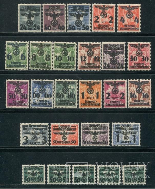 1940 Рейх Генералгубернаторство орлы надпечатки полная серия
