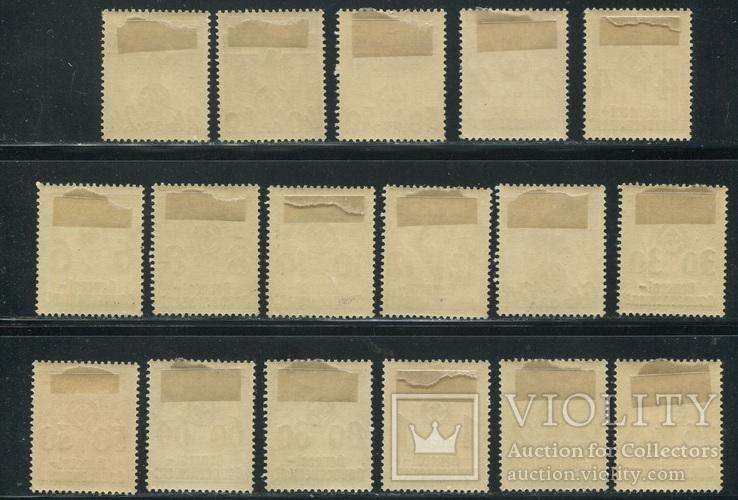 1940 Рейх Генералгубернаторство орлы надпечатки полная серия, фото №5