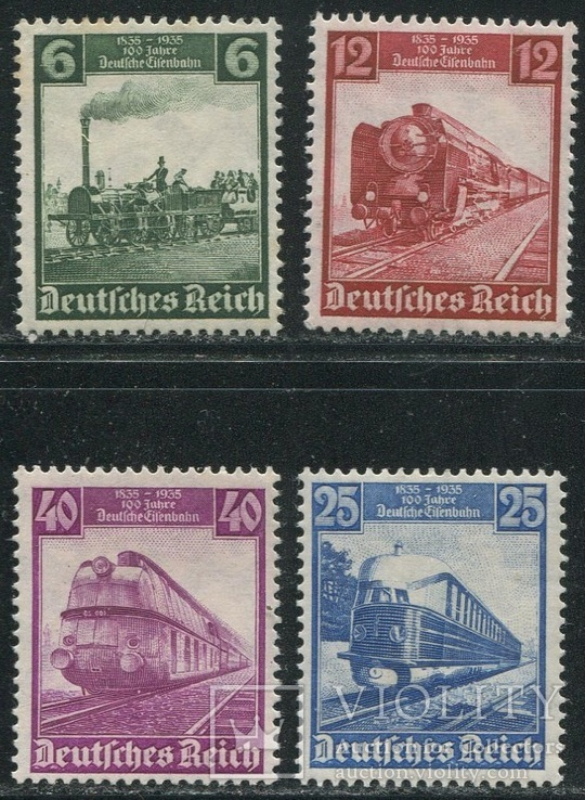 1935 Рейх паровозы полная серия