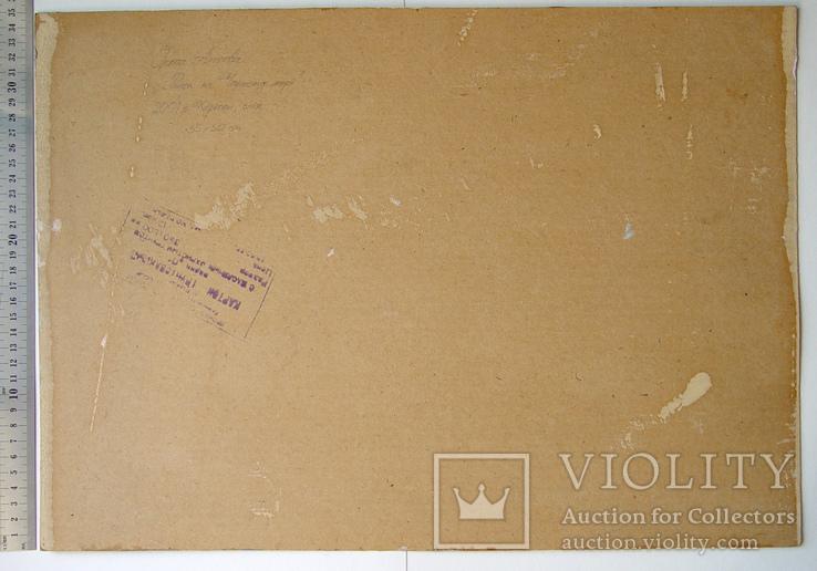"""""""Ранок на Чорному морі"""". Ірена Алісова, картон, олія, 35 х 50 см., фото №7"""