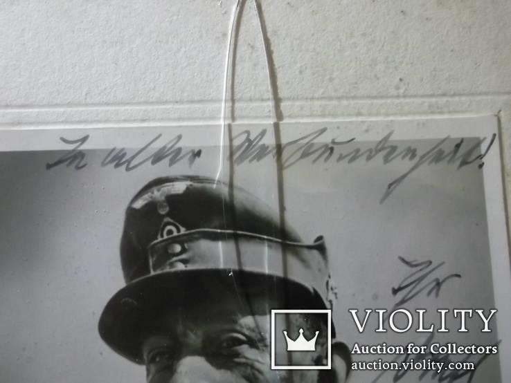 Автограф. Генерал-полковник Э.Дитль + Бонус, фото №3