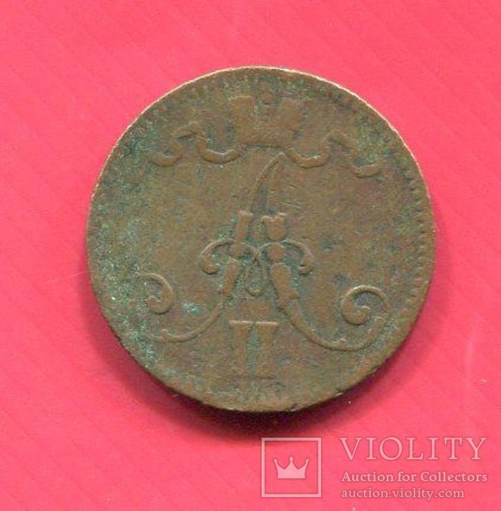 Финляндия 5 пенни 1866 Александр II, фото №3
