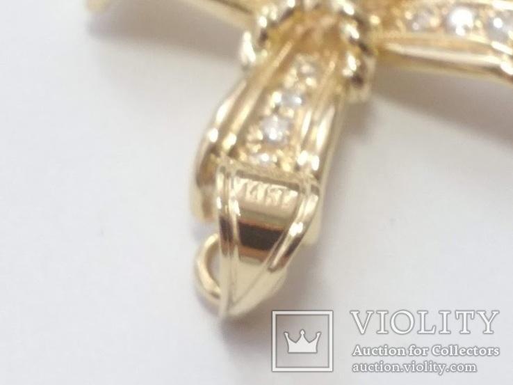 Золотой крестик с бриллиантами, фото №8