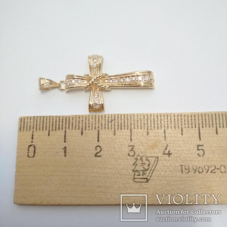 Золотой крестик с бриллиантами, фото №10