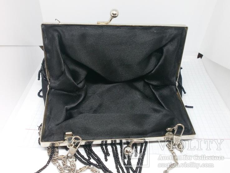 Винтажная сумочка. Бисер, пайетки, фото №6
