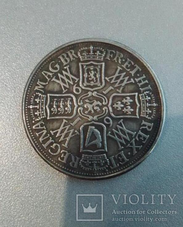 Крона 1616 года Англия Вильгельм и Мария копия монеты, фото №3
