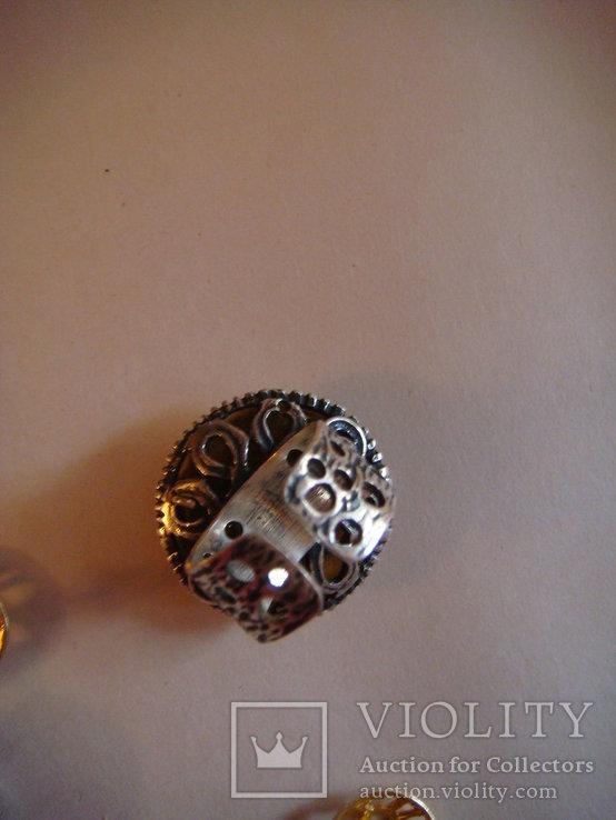 Набор серьги и кольцо, фото №4