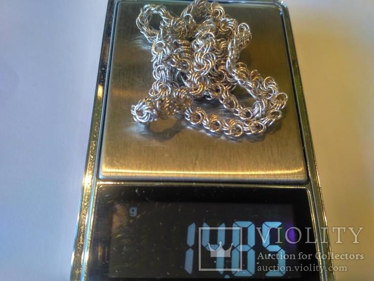 Цепочка 3 серебро, фото №6