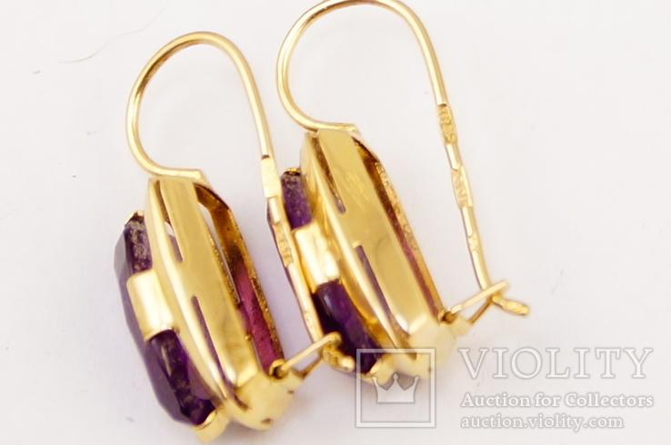Золотые серьги 583 пробы, фото №5