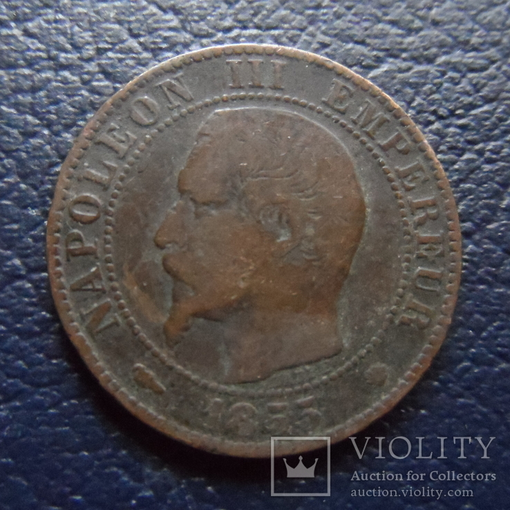 5 сантим 1855  Франция   (,F.9.9)~, фото №3