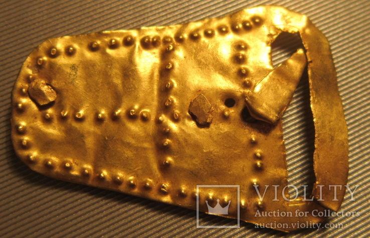 Золотая пряжка с крестом, Готская Культура, 4-5 век н.э.