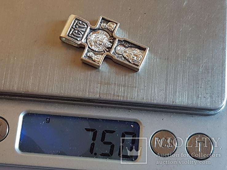 Крестик нательный. Серебро 925 проба. Вес 7.50 г., фото №11